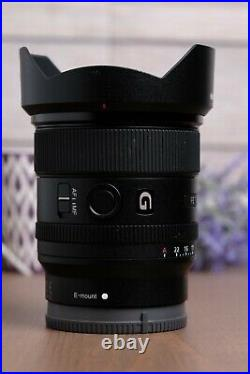 Sony FE 20mm F1.8 G Full Frame E-Mount Lens #SEL20F18G with Hood & Caps