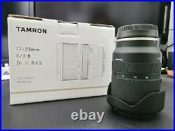 Tamron 17-28mm F/2.8 Lens for Sony. B+W Filter Included! Original Box