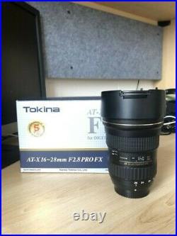 Tokina 16-28mm F2.8 (IF) FX for full frame Nikon dslr