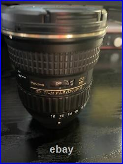 Tokina At-X Pro DX II 11-16mm F/2.8 Lens For Nikon F (BARELY USED)