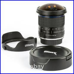 ULTIMAXX 7mm f/3.0 Aspherical Fisheye Lens for Nikon DSLRs Ultra Wide Angle