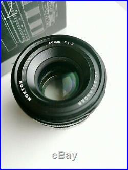 Voigtlander 40mm f/1.2 Nokton Sony E Mount Full Frame Lens