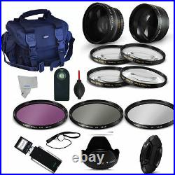 Wide Angle Lens + Telephoto Lens + Pro Kit For Sony Alpha A6000 40.5mm 49mm