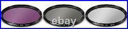 Wide Angle Lens + Telephoto Zoom Lens + Accessory Kit For Nikon P1000 77mm St