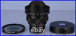 Zeiss Leica Fit M 15mm Distagon F2.8 T Zm Lens +caps +1.5 Center Filter Mint
